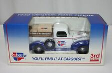 Car Quest 1940 Ford Pickup Die Cast Metal Truck Lockable Coin Bank In Box 3rd