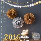 Tissue Pompoms Pom Poms Birthday Christmas Xmas Party Decorations Gold Silver