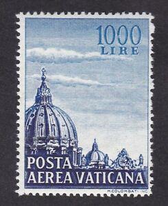 Italy VATICAN 1953 Air 1000L blue&deep blue SG191 UM MNH ** never hinged