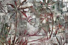 Tableau toile peinture Paysage plage palmiers cocotiers île Signé Taesler Cadre