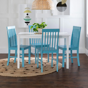 Porch & Den Pompton Luxe // Chic 5-piece Dining Set with Slat Back Chairs