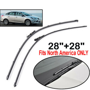 XUKEY Front Windshield Wiper Blades Set For Ford Focus MK3 North American Model