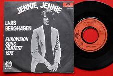 """LARS BERGHAGEN JENNIE,JENNIE EUROVISION 1975 SCHLAGER EXYUGO 7""""PS SWEDISH SWEDEN"""