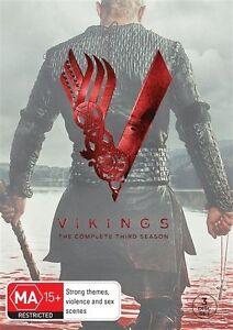 Vikings Season 3 (DVD, 3-Disc Set) Region 4 - NEW+SEALED