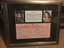 Elizabeth Taylor Certified Copy of Birth Certificate and Pictures Framed