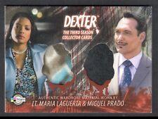 DEXTER SEASON 3 (Breygent) COSTUME CARD #D3 - C26 MARIA LAGUERTA & MIGUEL PRADO
