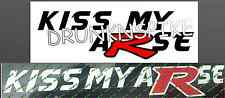 HONDA CIVIC TYPE R EP3 FN2 FK2 KISS MY ARSE FUNNY DECAL STICKER