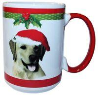 Labrador Yellow Lab Christmas Coffee Mug 15 oz E&S Pets Dog Puppy Tea Cup Gift