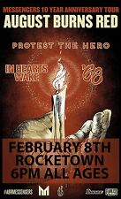 August Burns Red /Protest The Hero 2017 Nashville Concert Tour Poster- Metalcore