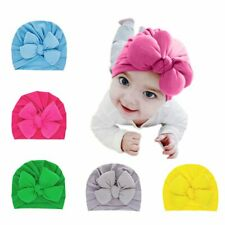5pcs Newborn Baby Girls Knotted Soft Hat Turban Infant Toddler Cute Bow Hats Set