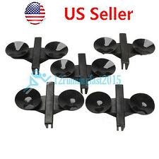 5 pcs Plastic Separator Divider Sheet Holder Suction Cup for Aquarium Fish Tank