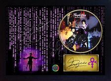 Purple Rain PRINCE SIGNED FRAMED PHOTO CD Disc Purple Rain Perfect gift #3
