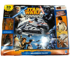 Hasbro Star Wars Command Millennium falcon 33 Figures And Vehicles Still Sealed