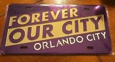 """Forever Our City"" Orlando. 12"" x 6"" Chrome License Plate MLS Crystal Mirror New"