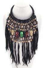 Delfina Delettrez Black Leather Sterling Skull Statement Necklace New $8746