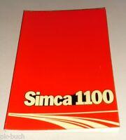 Manual de Instrucciones Manual Simca 1100 Stand 05/1975