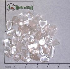 QUARTZ Clear B grade medium tumbled, 1/2 lb bulk stones crystal 30-35 pkg