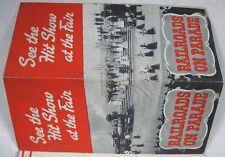 Vintage 1940 Worlds Fair New York Map Railroads on Parade Flier