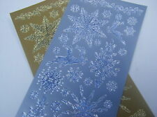 2 sts XMAS BLUES full size peel off gold/silveR