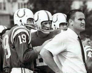 Johnny Unitas and Don Shula Baltimore- Colts, 8x10 B&W Photo