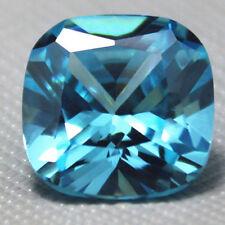 6.78ct Unheated Light Blue SAPPHIRE 10MM CUSHION SHAPE AAA COLOR LOOSE GEMSTONE