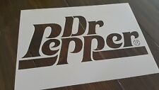 Dr Pepper Stencil Reusable Wall Craft DIY Paint Airbrush Drink Old Logo A5 Cola