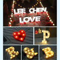 Vintage Large LED Marquee Letters Alphabet Symbol Lights Sign  Wedding Party Top