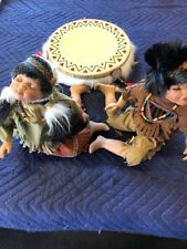 Heritage Signature Collection Native American Porcelain Dolls Takota & Winona