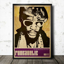 George Clinton Funkadelic Art Poster Music Funk Bootsy Collins James Brown