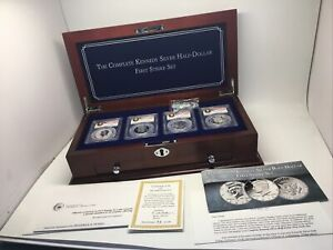 2014 Complete Kennedy Silver Dollar First Strike Set Proof MS70 P D W S Coin