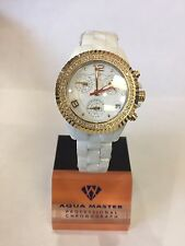 1.25t Techno by JPM Ladies Diamond White Ceramic Watch Joe Rodeo Aqua Master