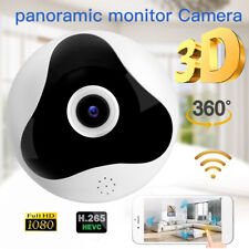 WiFi 1080P HD SPY DVR Hidden IP Camera Wireless Motion Detect Fisheye Nanny Cam