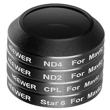 Neewer 4 Pieces Filter Kit CPL ND2 ND4 6-Point Star for DJI Mavic Pro Drone