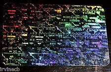 Hologram Overlays Secure Valid Genuine Overlay Inkjet Teslin ID Cards -Lot of 5
