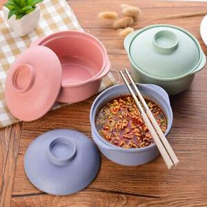 Wheat Straw Rice Soup Bowl Eco Tableware Anti-Scalding Nordic Noodle