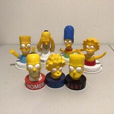 Four 1998 Australia Simpsons KFC Cup Toppers  + Three Other Simpson Heads #563