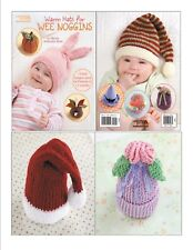 Knit Pattern Book WARM HATS For Wee Noggins ~ Babies Preemie to 12 Months