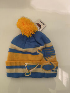 ST. LOUIS BLUES 2017 NHL WINTER CLASSIC REEBOK CUFFED POM KNIT HAT TOQUE