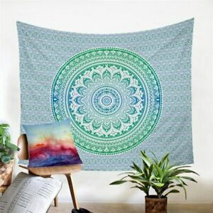 Mandala Green Floral Wall Tapestry Hanging Throw Cover Home Room Decoration