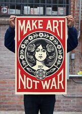 """MAKE ART NOT WAR SIGNED OFFSET LITHOGRAPH Obey 24"""" x 36"""" SignOffset Lithograph"""
