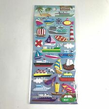 28 ASSORTED BOAT SHIP MARINE LIGHTHOUSSE SAILING STICKERS SCRAPBOOK COLLECTION