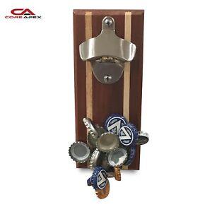 Magnetic Bottle Opener 2.0, Magnet Holds 30 Caps, Timber, Cool Gift, BoyzToys