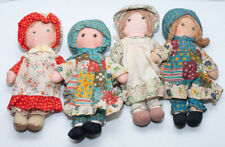 """Vintage Lot Of 4 Holly Hobby Cloth Dolls 2 Are 8"""" And 2 Are 9"""" Tall"""