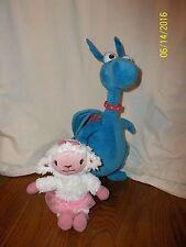 "Lot of 2 Disney Doc McStuffins Talking Stuffy 15"" & Check Up Lambie Talking 9"""