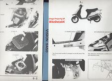 Genuine Honda SA50 Vision Met-in (1988-1995) Factory Work Shop Manual SA 50 AF22