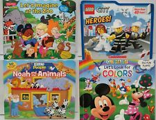 LEARNING Board Books Lego Animal ZOO Mickey colors Flip Window *4 BRAND NEW*