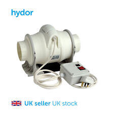 100mm (4 inch), Duct Fan, Tube Fan, Hydroponics, with 2 Speed Switch and Plug