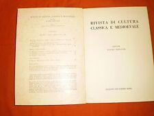 rivista di cultura classica e medievale  1,66