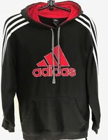 "Adidas Black Pullover Hoodie Size S Shoulders 16"" Chest 40"" Length 28"" Unisex"
