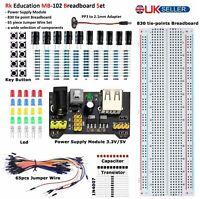 Rk Education MB102 Breadboard PSU Set FREE 2.1mm to PP3 Lead UK Seller